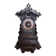 German Cuckoo Clock with Wall-Mounted Shelf, circa 1840