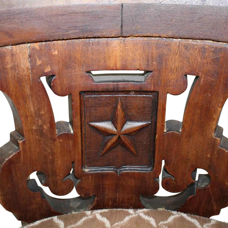 European Nautical Chair with Cast Iron Base, circa 1900 In Good Condition For Sale In Evergreen, CO