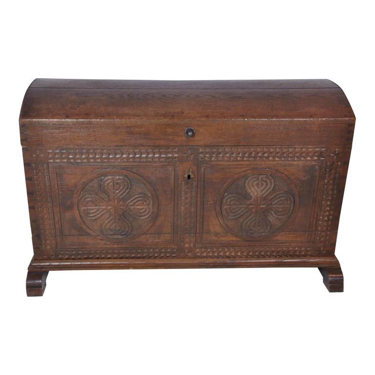 Belgian Dome Top Trunk, circa 1850