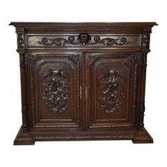 Carved French Oak Cabinet, circa 1880
