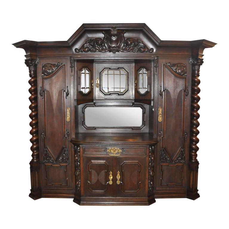 German Oak Danziger Cabinet, circa 1900