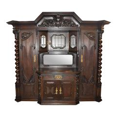 German Oak Danziger Cabinet, circa 1900