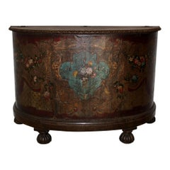 Painted Leather Crescent/Demilune Chest, circa 1890