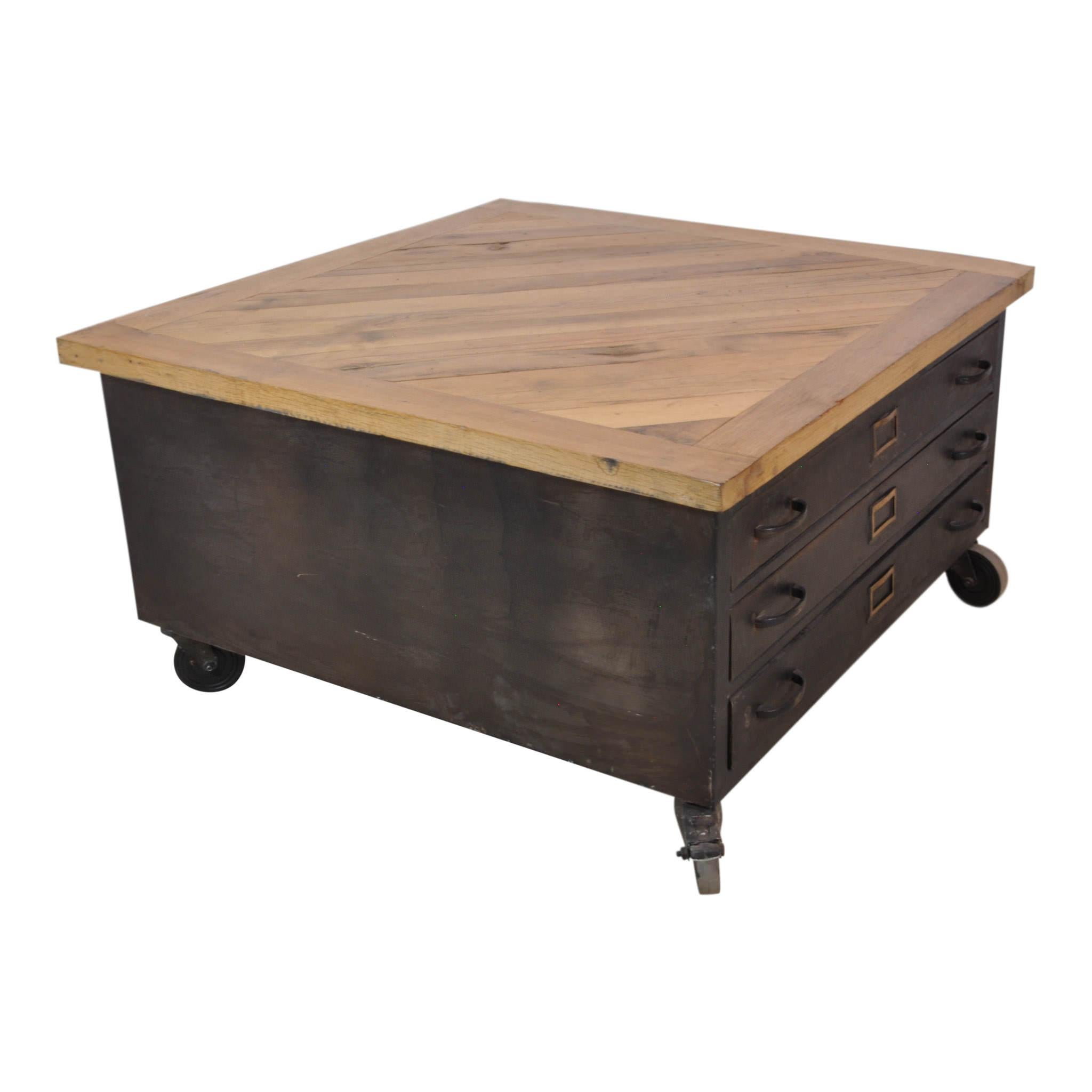 Exceptionnel Re Purposed From A Flat File Cabinet, A Parquet Top Has Been Added To