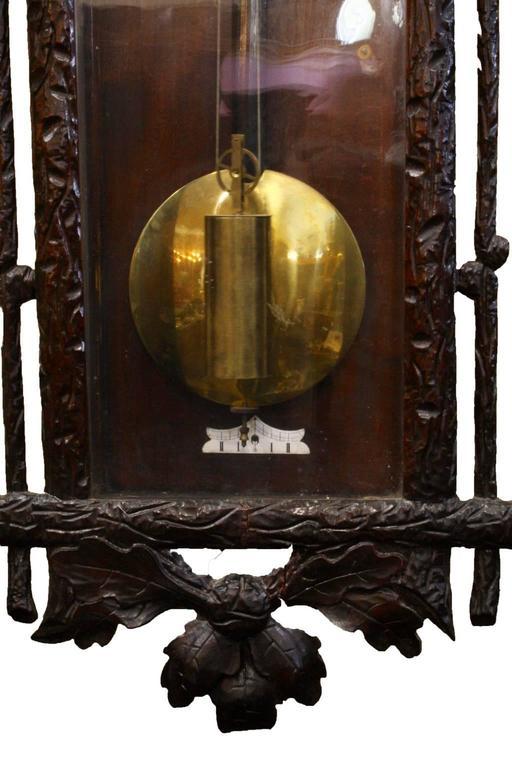 European Late 19th Century Vienna Regulator Wall Clock For Sale