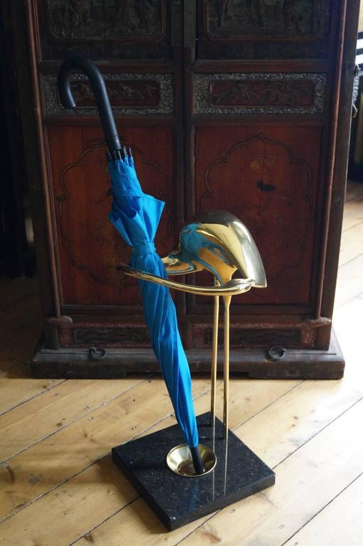 Unique mid century brass bird umbrella stand belgium for Stand belgique