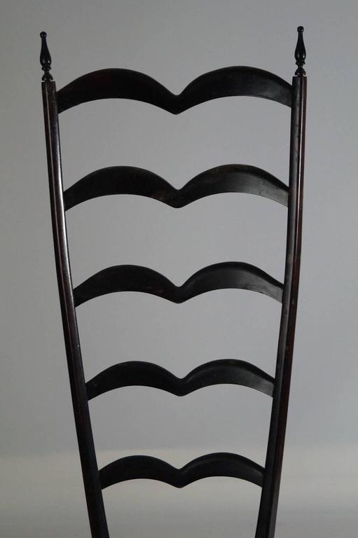 Italian Pair of Modern Style Ladder Back Chairs by Paolo Buffa, 1950s For Sale