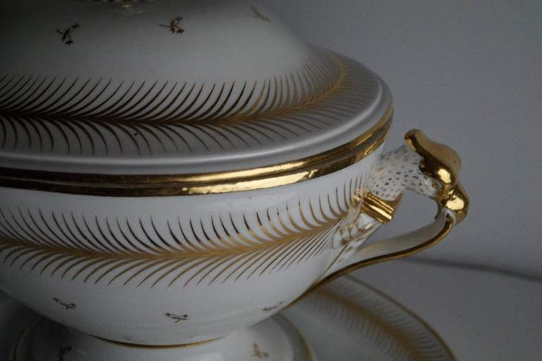 Empire Large Tureen with under Plate, 1800-1820 For Sale