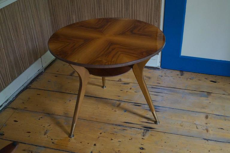Veneer Gio Ponti Style Coffee Table, Italy, 1950s For Sale