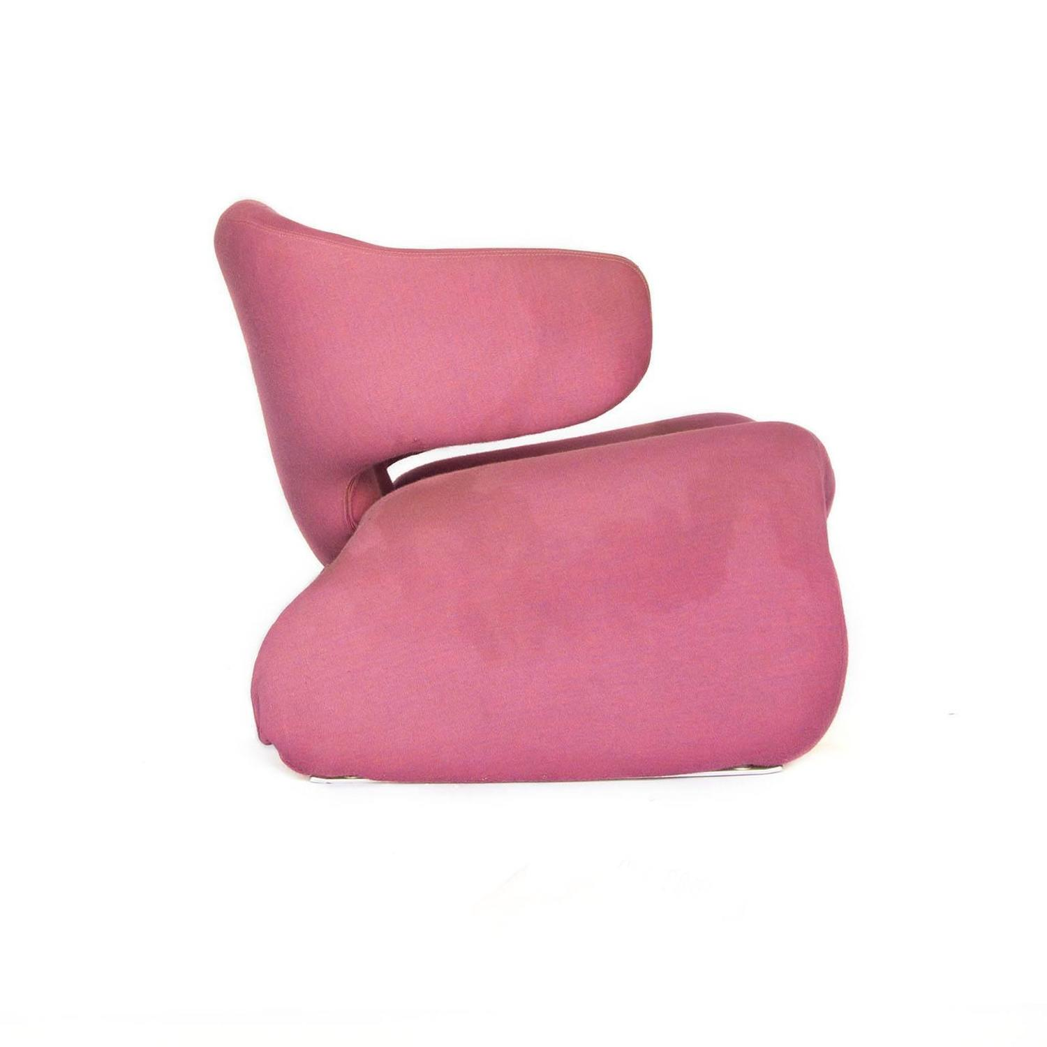1960 Olivier Morgue Djinn Lounge Chair in Pink Original Fabric for Airborn