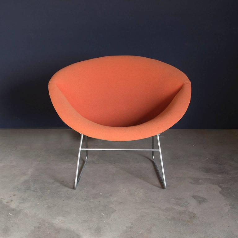 1950s In The Style Of Pierre Paulin Rare Organic Formed Lounge Chair Orange