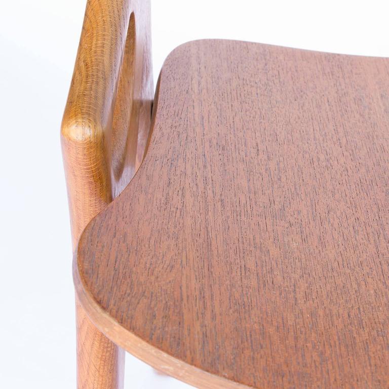 1958, Arne Hovmand-Olsen, Oak 1950s Dining Chair For Sale at 1stdibs