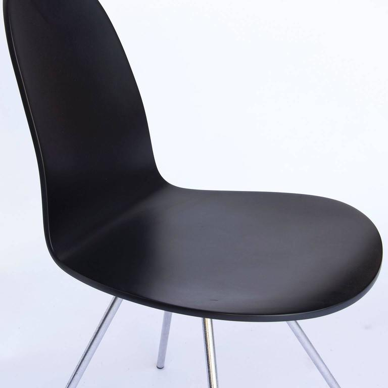 1955 arne jacobsen tongue chair black lacquered for sale for Chaise serie 7 arne jacobsen 1955