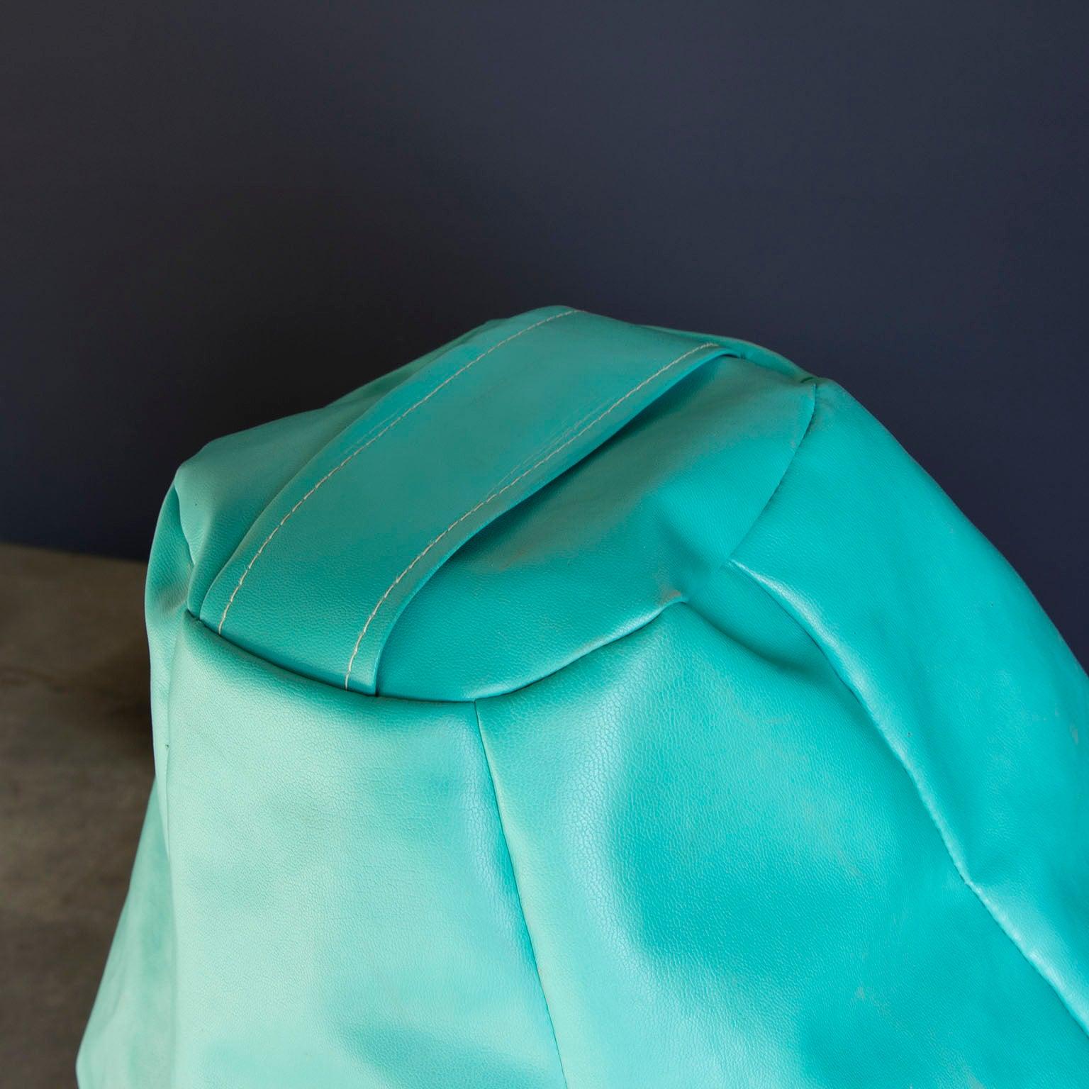Dutch Decor Zitzak.1968 Piero Gatti Beanbag Sacco In Turquoise For Sale At 1stdibs