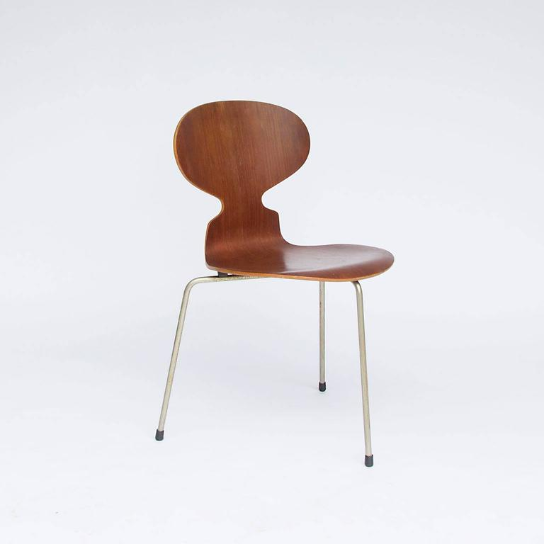 1952 Arne Jacobsen Original Early Set Ant Chairs For