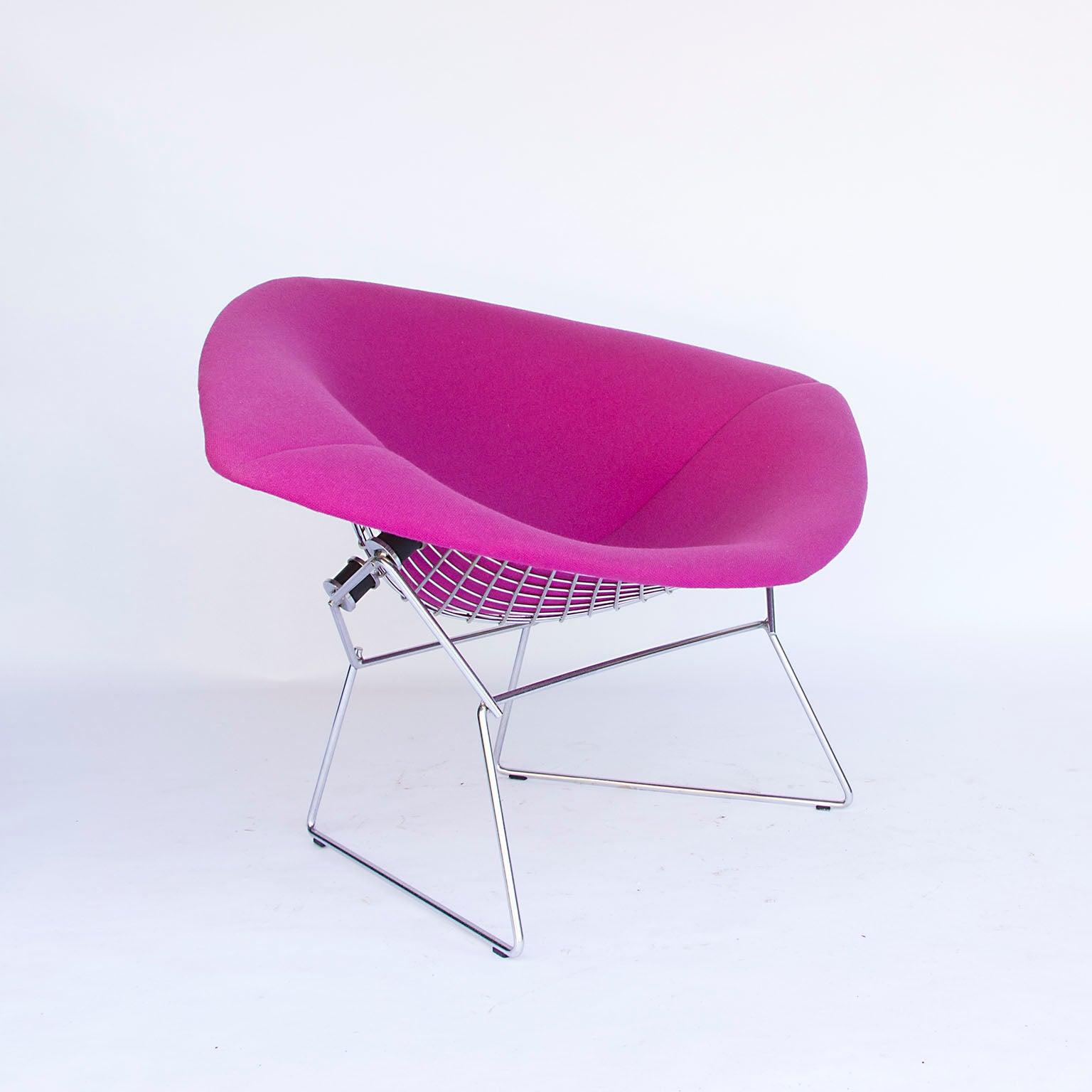 Egg Chair Roze.1952 Harrie Bertoia Large Diamond Chair With Original Full