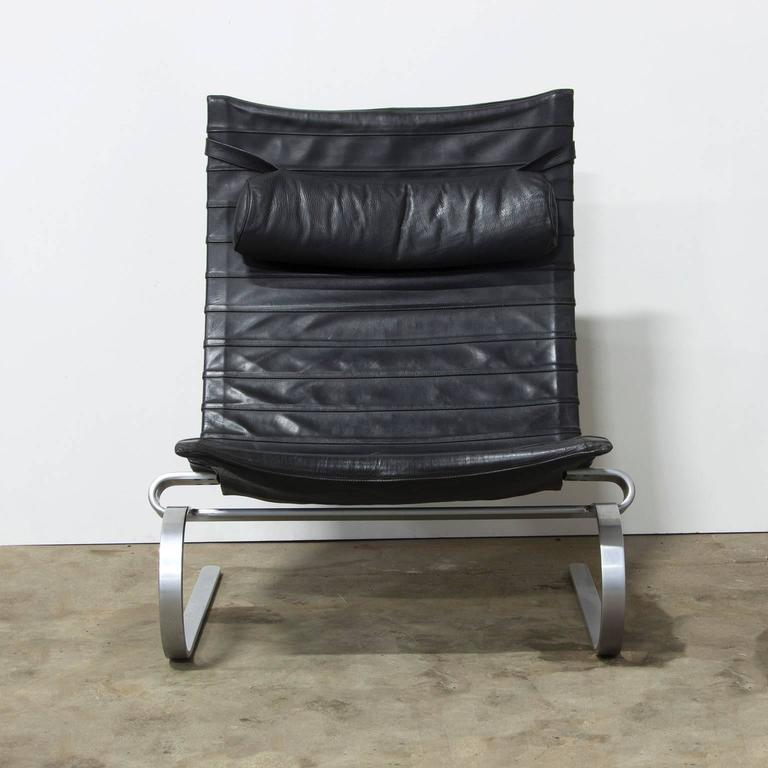 1967, Poul Kjaerholm, PK 20, Early Kold Kristensen in Original 1st Black Leather 5