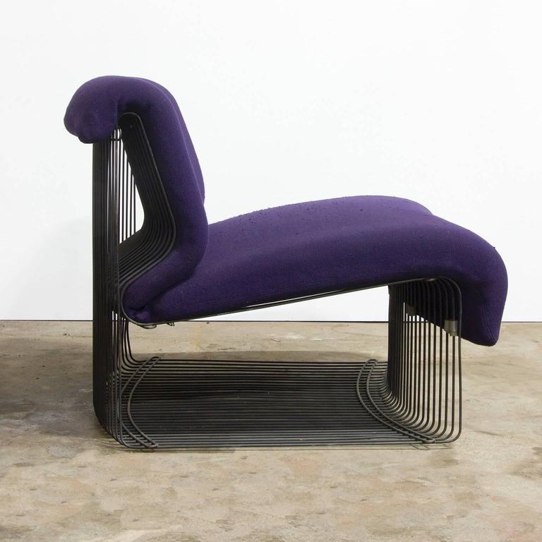 1971 verner panton for rosenthal pantonova lounge chair in original fabric for sale at 1stdibs. Black Bedroom Furniture Sets. Home Design Ideas