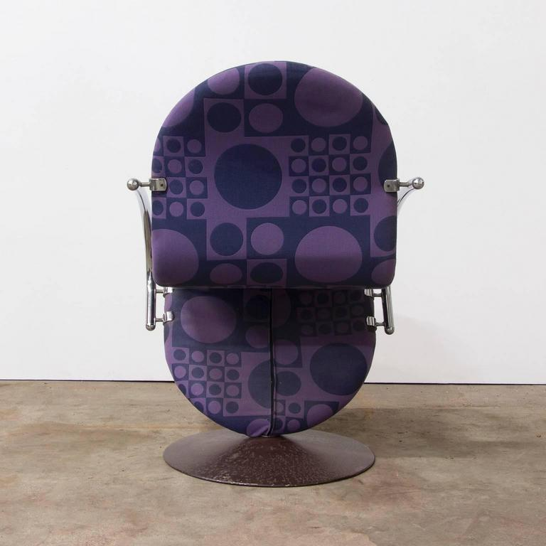 Danish 1973, Verner Panton for Rosenthal, Side Chair Including Original Panton Fabric For Sale