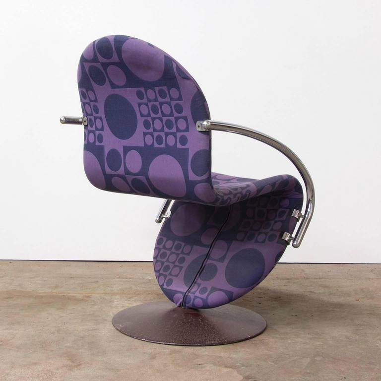 Scandinavian Modern 1973, Verner Panton for Rosenthal, Side Chair Including Original Panton Fabric For Sale