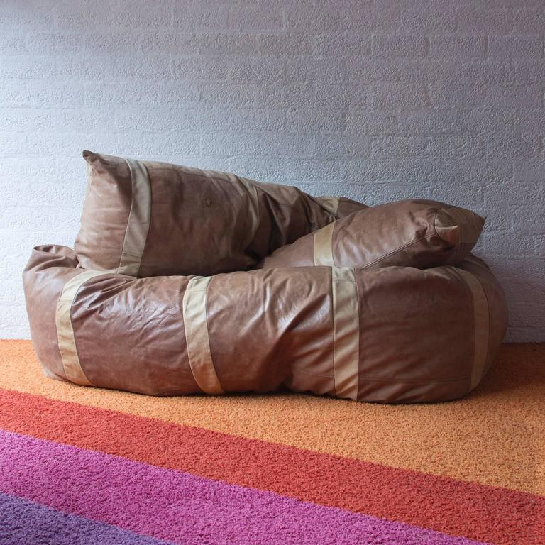 Mid Century Modern 1960, Hans Roebers, Original Snake Couch In Beautiful  Soft Brown
