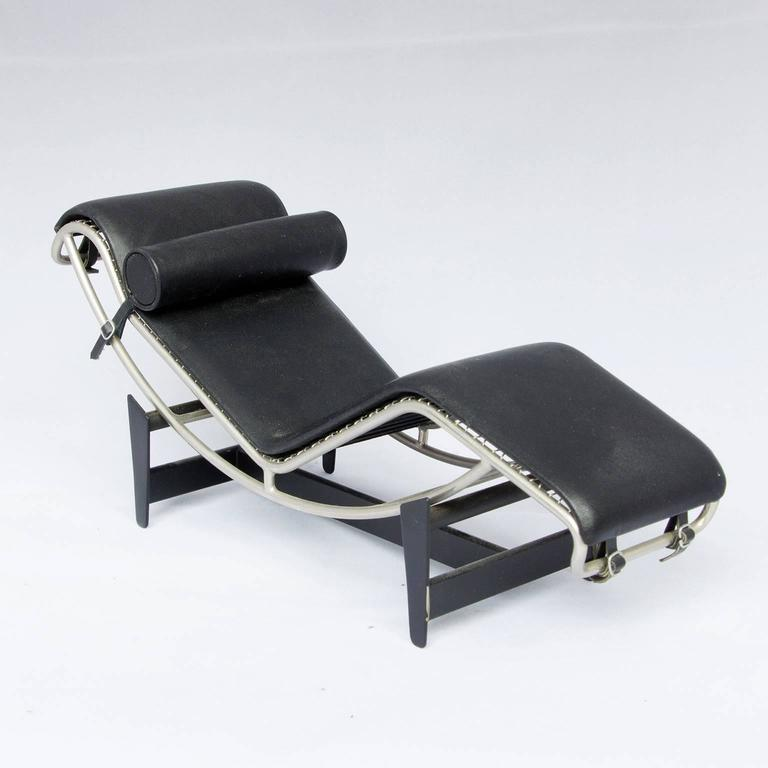 1928 le corbusier lc 4 miniature by vitra in black chrome at 1stdibs. Black Bedroom Furniture Sets. Home Design Ideas