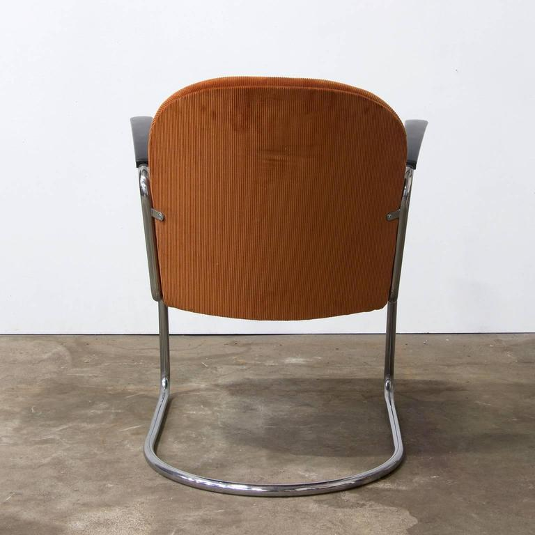 Dutch 1935, W.H. Gispen by Gispen Culemborg, 413 Easy Chair in Terra Corduroi Fabric For Sale