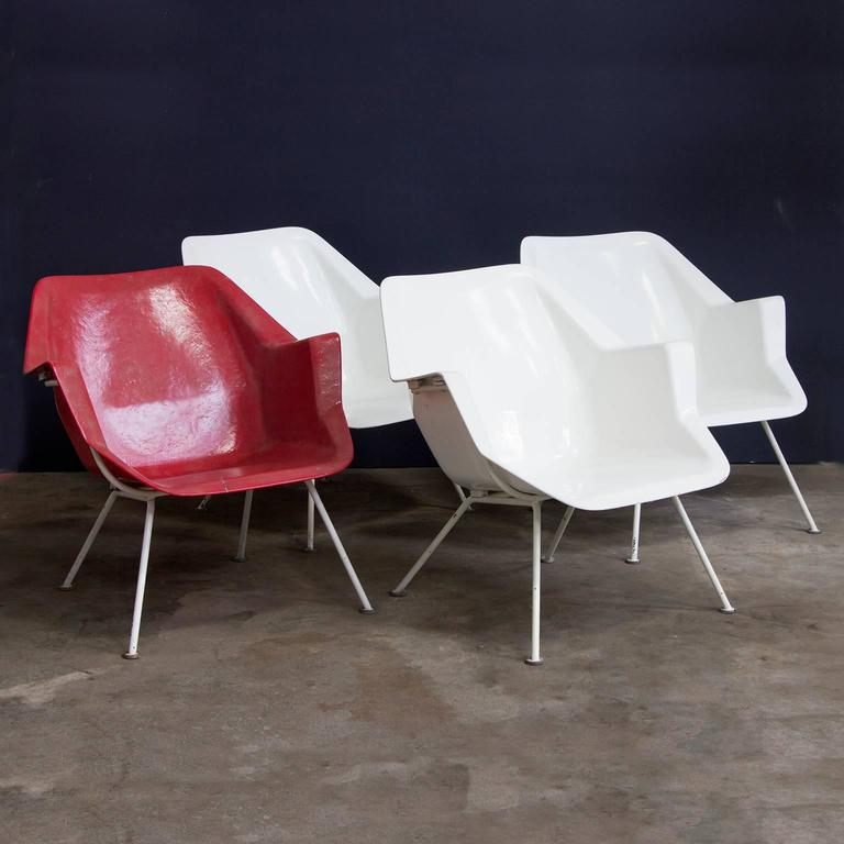 1957, Wim Rietveld/André Cordemeyer, Three Chairs, 416 Version by Gispen Holland For Sale 3