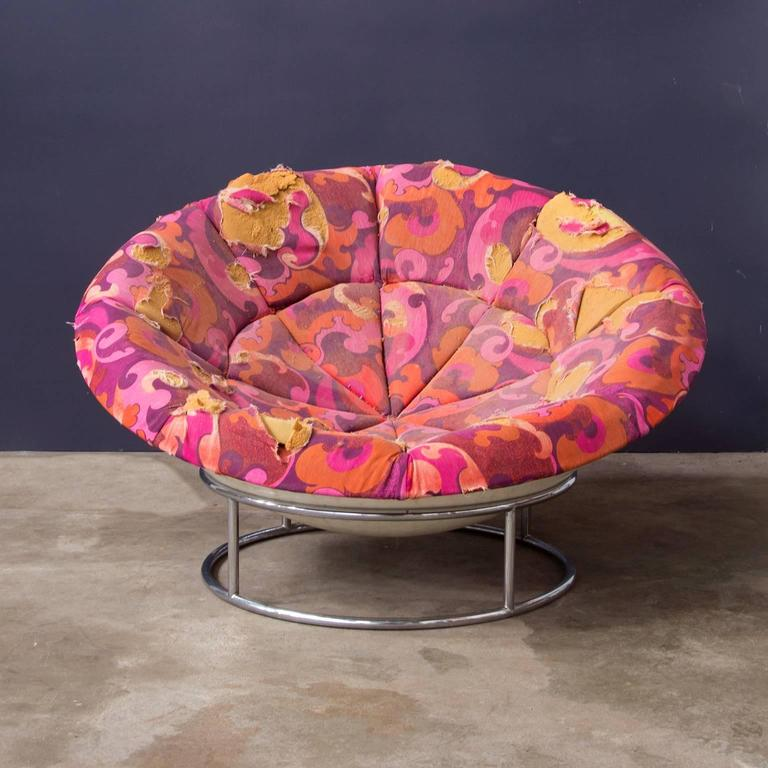 1970s U0027Birdu0027s Nestu0027 Verner Panton Style Lounge Chair In Fair Condition For  Sale In
