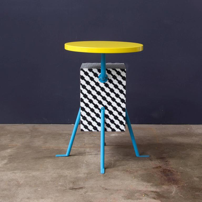 Italian 1981, Michele de Lucchi Kristall Side Table 'Robicara' for Memphis Milano For Sale
