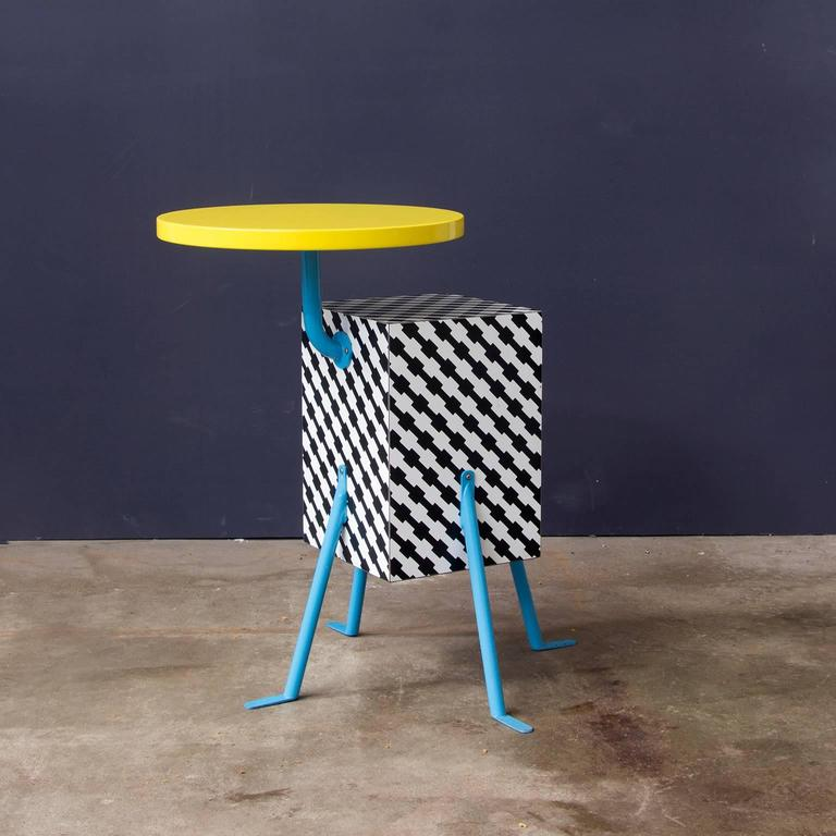 Post-Modern 1981, Michele de Lucchi Kristall Side Table 'Robicara' for Memphis Milano For Sale