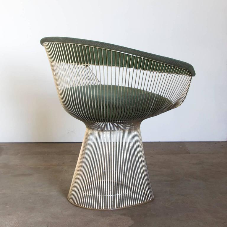 Mid Century Modern 1966, Warren Platner For Knoll International, Side Chair  In Green