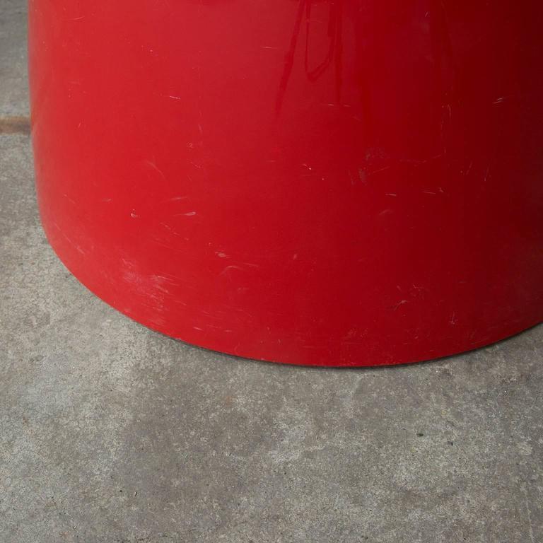 Plastic 1966, Emma Gismondi Schweinberger for Artemide, Red Dedalo Umbrella Stand