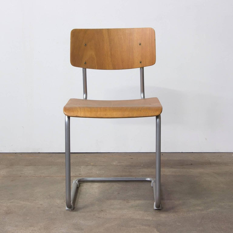 w h gispen  original chair with mat chrome frame wooden five chairs restaurant five chairs restaurant lenox ma