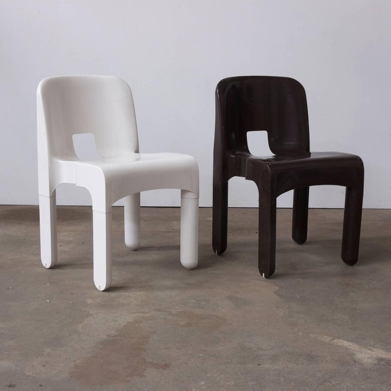 1967 Joe Colombo, Universale Plastic Chair, Type 4867 in Chocolate Brown For Sale 2