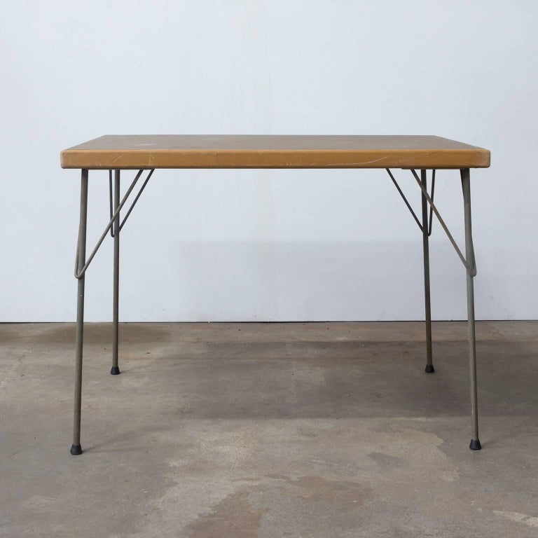 1950, Wim Rietveld for Gispen Holland, Original Dinner Table 3
