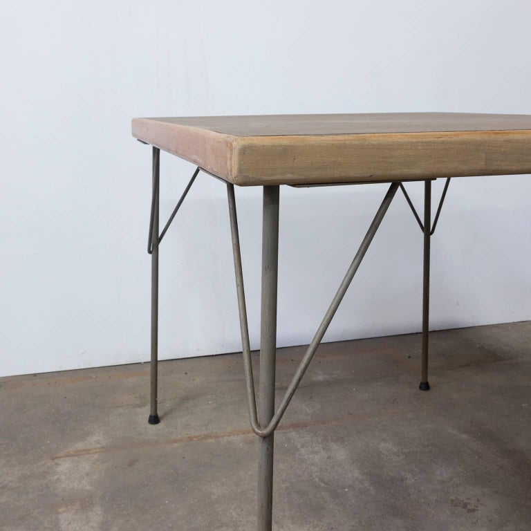 1950, Wim Rietveld for Gispen Holland, Original Dinner Table 5