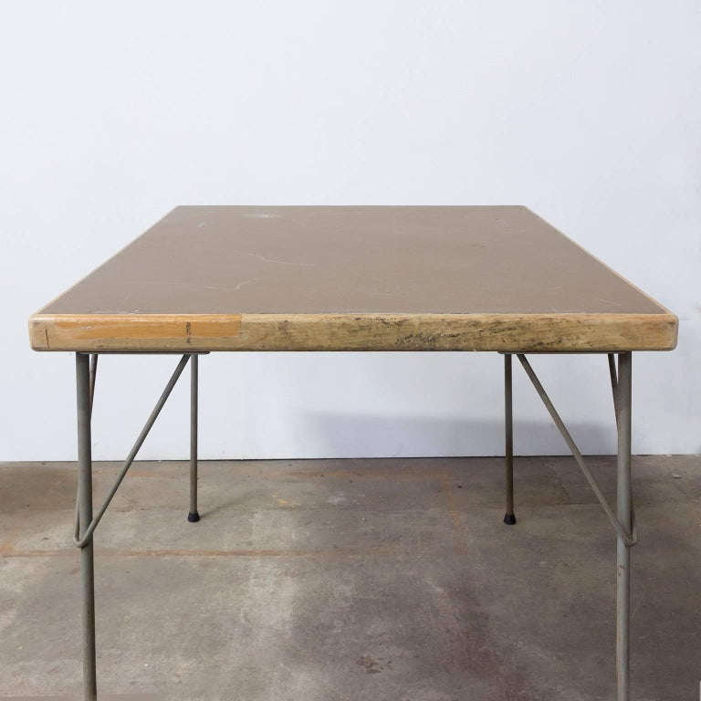 1950, Wim Rietveld for Gispen Holland, Original Dinner Table 7