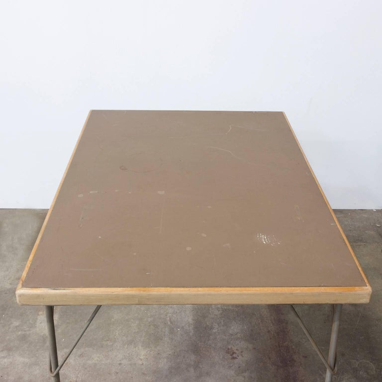 1950, Wim Rietveld for Gispen Holland, Original Dinner Table 6