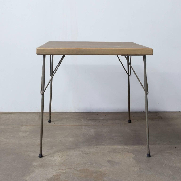 1950, Wim Rietveld for Gispen Holland, Original Dinner Table 4