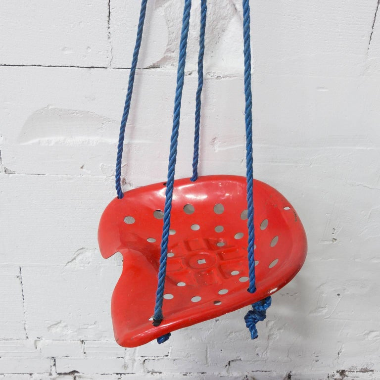 Swing Tractor Seat Chair In Red Like Achille Castiglione