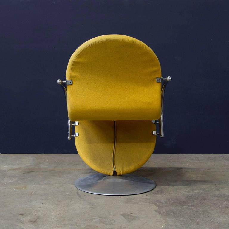1973 verner panton 1 2 3 series easy chair in yellow fabric for sale at 1stdibs. Black Bedroom Furniture Sets. Home Design Ideas