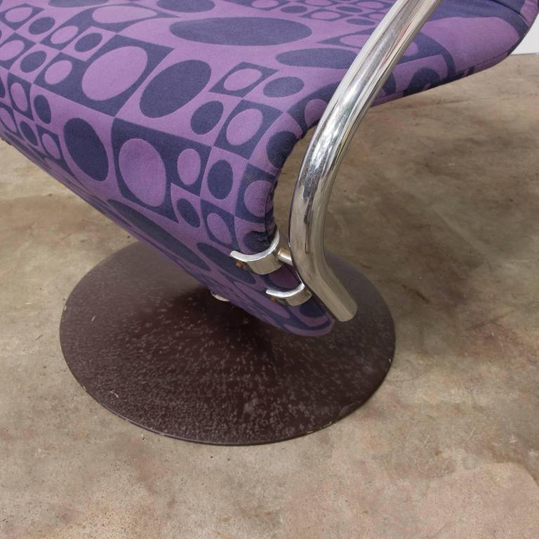 1973, Verner Panton for Rosenthal, Side Chair Including Original Panton Fabric For Sale 1