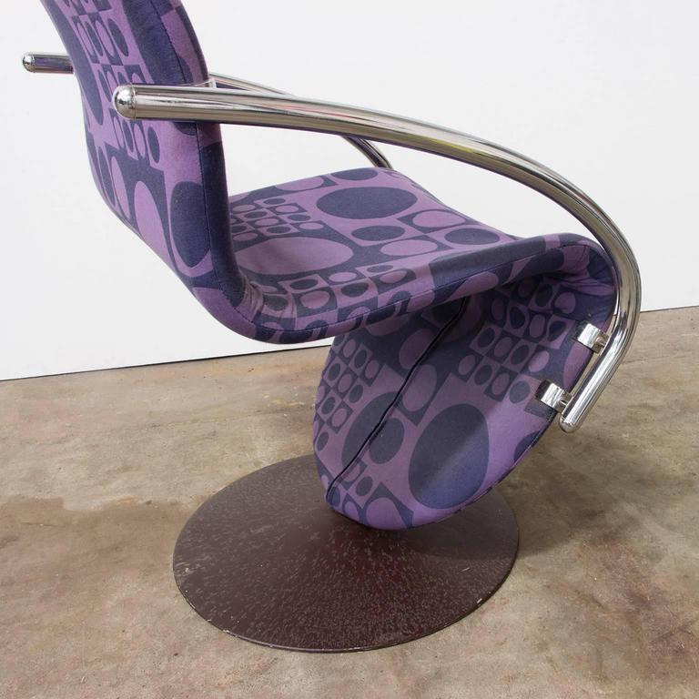 Late 20th Century 1973, Verner Panton for Rosenthal, Side Chair Including Original Panton Fabric For Sale