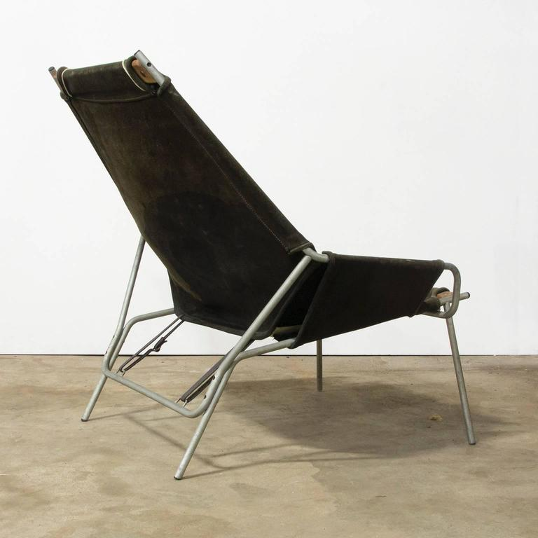 1954, Erik Ole Jorgesen, Easy Lounge Chair J 361 in Suede by Bovirke 3