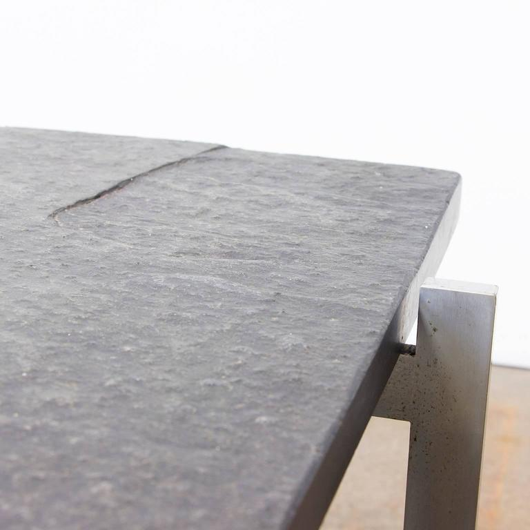 1956, Poul Kjærholm Side Table, PK61 Coffee Table, Slate In Good Condition For Sale In Amsterdam, North Holland