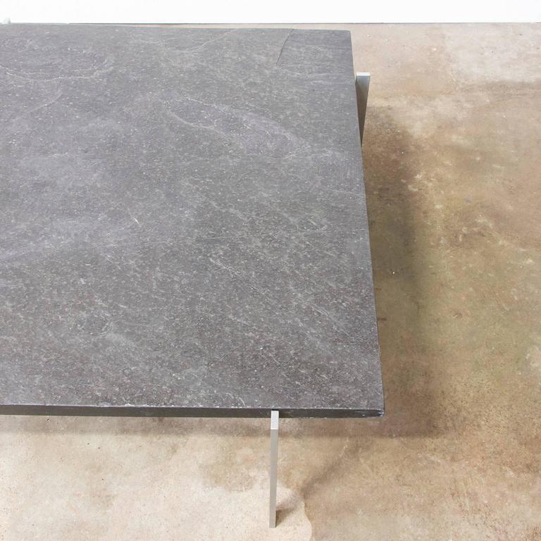 Danish 1956, Poul Kjærholm Side Table, PK61 Coffee Table, Slate For Sale