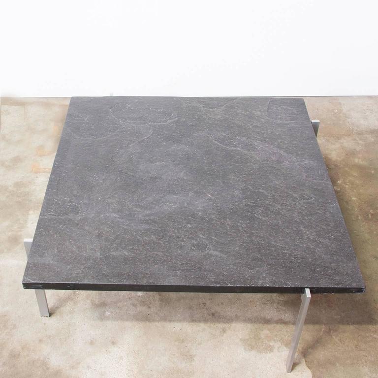 Mid-Century Modern 1956, Poul Kjærholm Side Table, PK61 Coffee Table, Slate For Sale