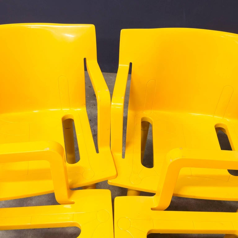 Italian 1986, Anna Castelli Ferreri for Kartell, Model 4870, Rare in Yellow with Arms For Sale