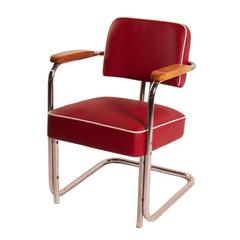 Tubular Chair with Legless Frame by Bauhaus, 1930s